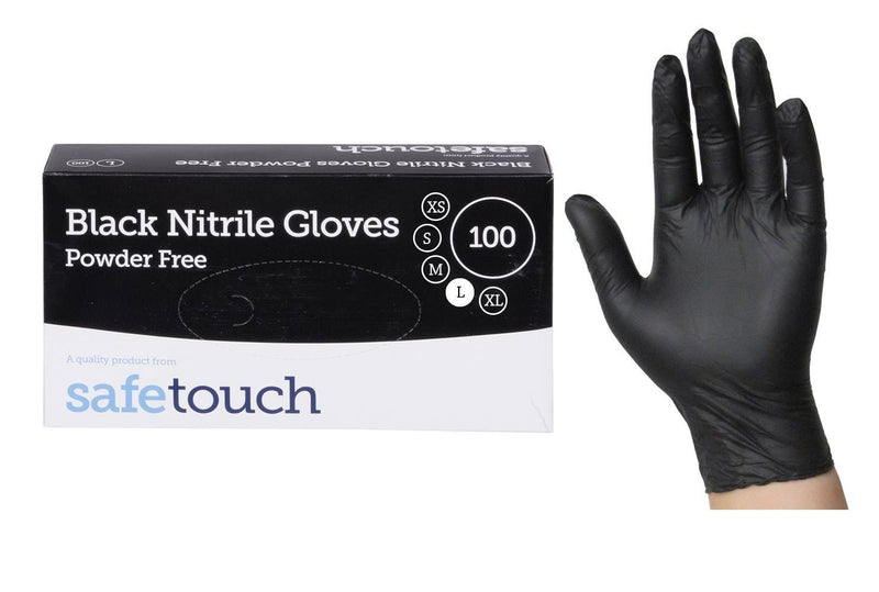 Black Nitrile Gloves - Box of 100 - Grow Power Hydroponics