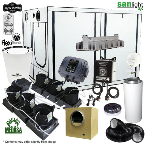 Complete Grow Room Kit - Only the best (OTB) - Large - 8 - 16 Plants - Grow Power Hydroponics