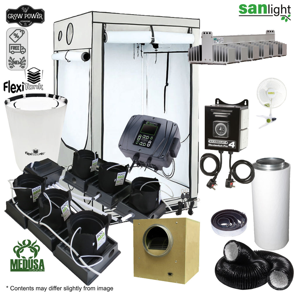 Complete Grow Room Kit - Only the best (OTB) - Small - 1 - 4 Plants - Grow Power Hydroponics