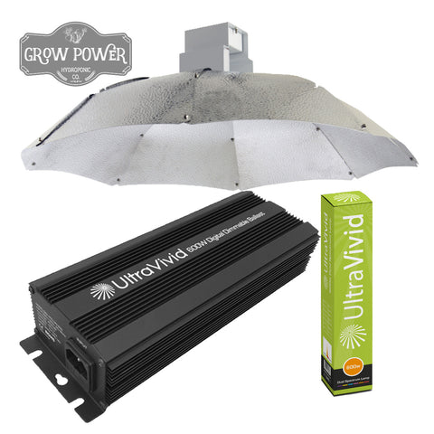 600W Parabolic, Dual Spectrum HPS, Digital Lighting Kit - Grow Power Hydroponics