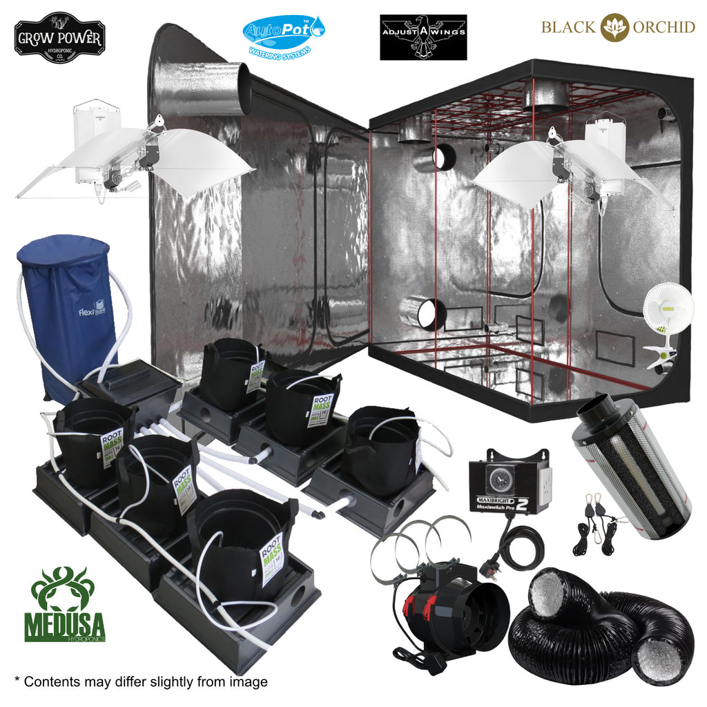 Complete Grow Room Kit - The Hobbyist Choice (THC) - Medium - 4 - 8 Plants - Grow Power Hydroponics