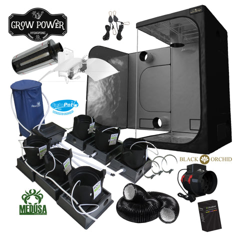 Complete Grow Room Kit - The Hobbyist Choice (THC) - Small - 1 - 4 Plants - Grow Power Hydroponics