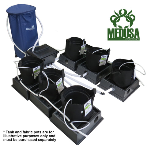 Medusa Dripper Hydroponics System, 6 Pot, Fastline Brain - Grow Power Hydroponics