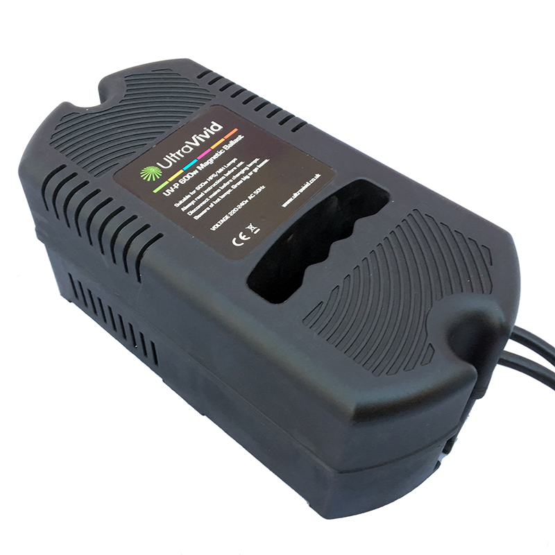 UltraVivid 600W UV-P Plastic Case Magnetic Ballast - Grow Power Hydroponics