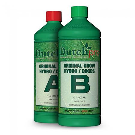 Dutch Pro Hydro/Coco A+B Grow Hard Water - Grow Power Hydroponics