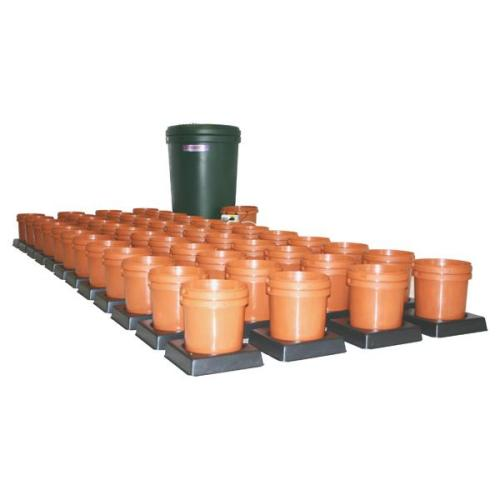 Multiflow System V3R Rigid Tank - Orange Pots - Grow Power Hydroponics