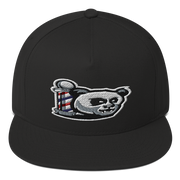 The Barbershop Classic Logo Flat Bill Cap