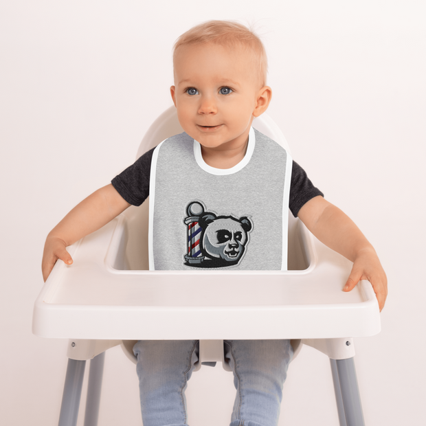 The Barbershop Classic Logo Embroidered Baby Bib