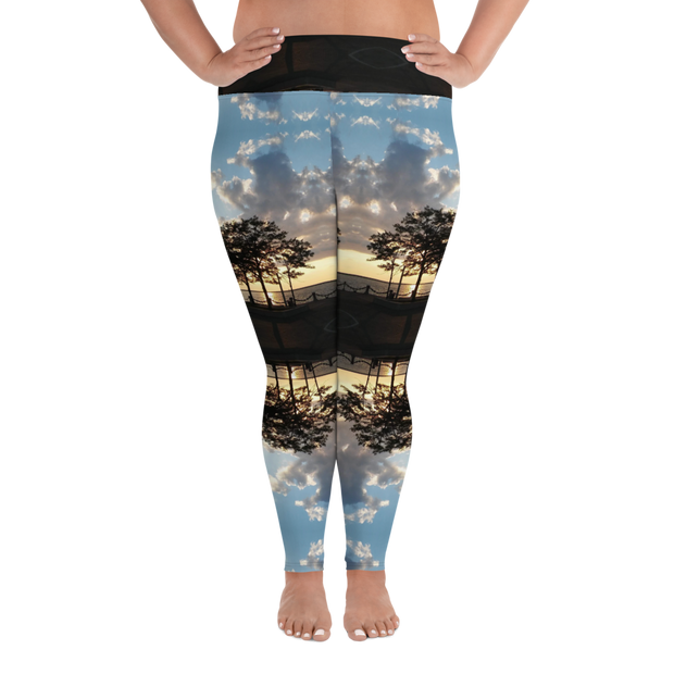 62° Sunset Plus Size Leggings