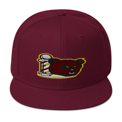 The Barbershop Wine &  Gold Snapback Hat