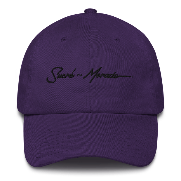 SUCRE`~MORADO Black Logo Cotton Polo Cap