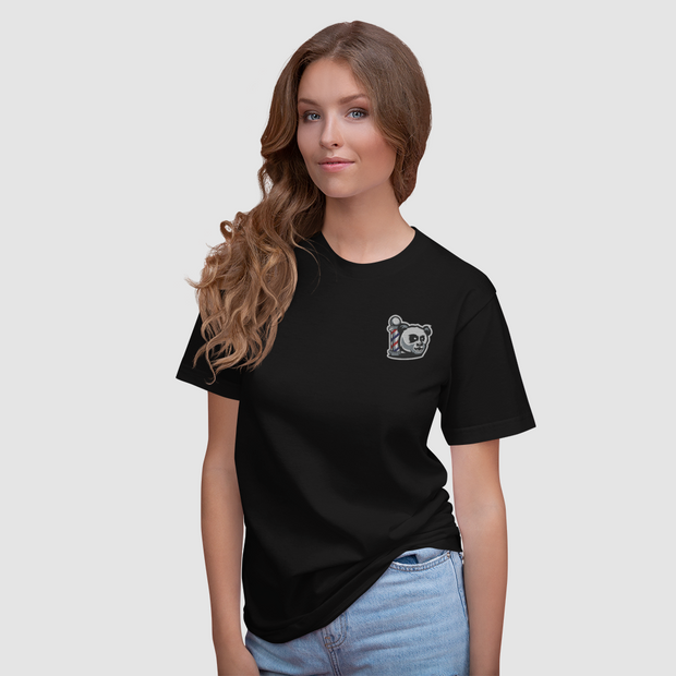 The Barbershop Women's Embroidered T-Shirt