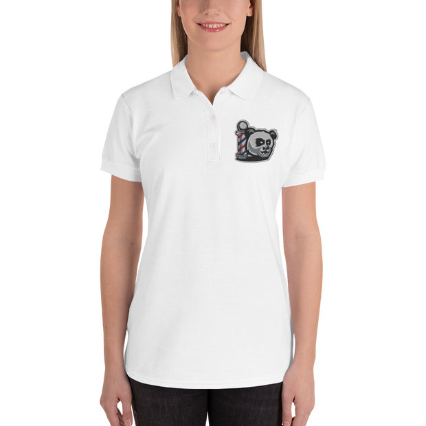 The Barbershop Embroidered Women's Polo Shirt