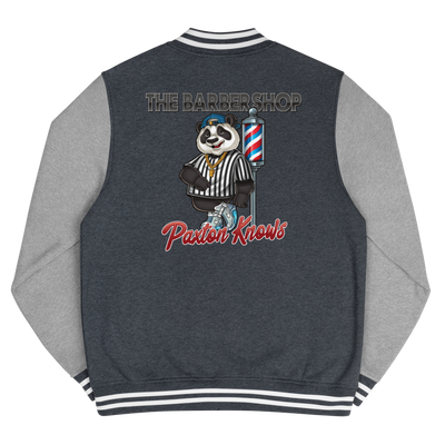 "The Barbershop ""Paxton Know's"" Men's Letterman Jacket"
