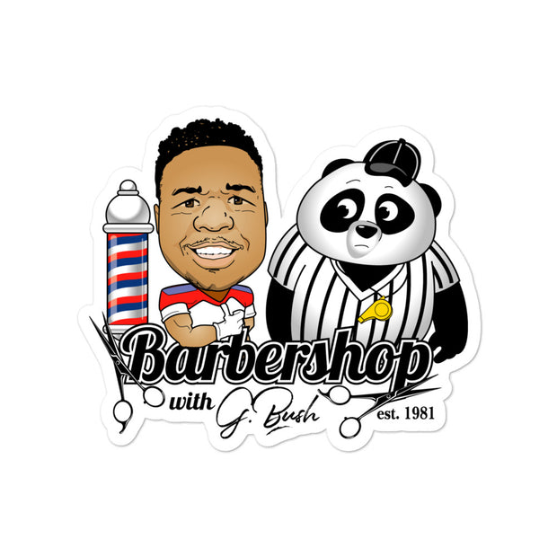 The Barbershop Bubble-free stickers