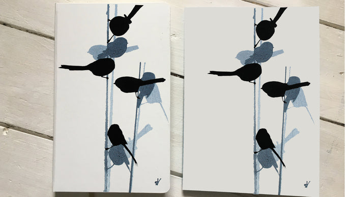 long-tailed tit notebook kickstarter project