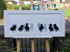 puffins painting