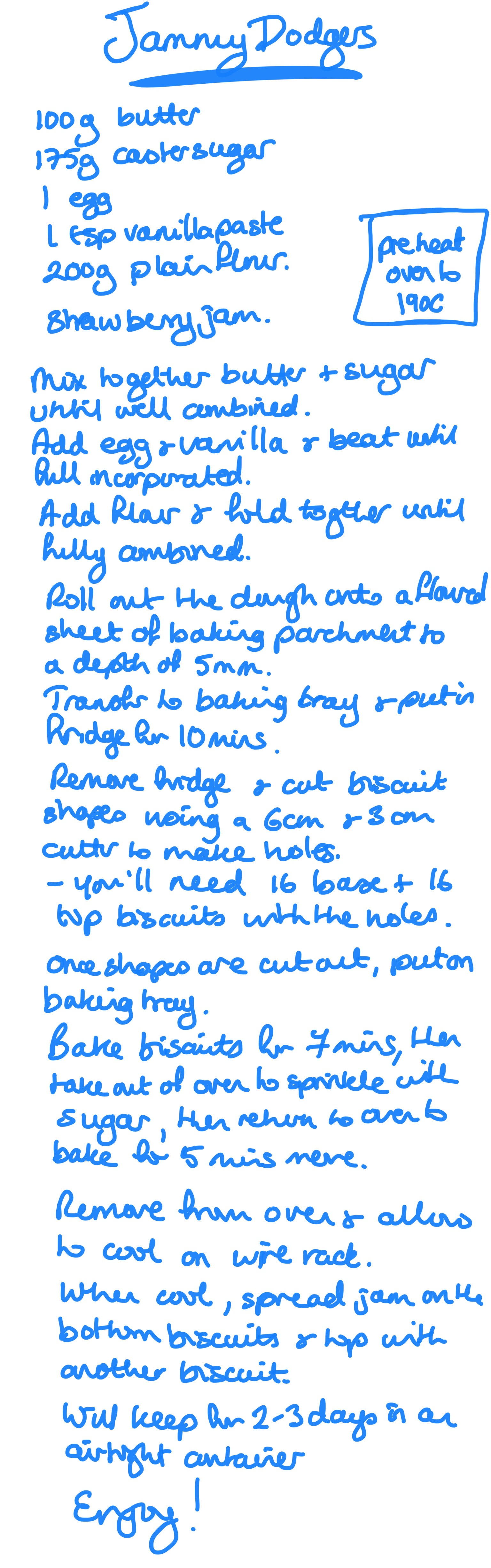 jammy dodgers recipe