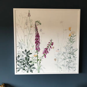 PAINTING: foxgloves in summer