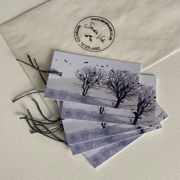 GIFT TAGS: gulls and trees print gift tags