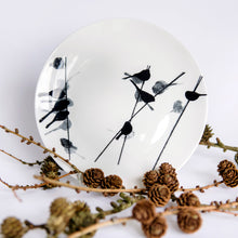 "Load image into Gallery viewer, plate: Long-tailed tit bone china 8"" plate"