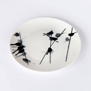 "plate: Long-tailed tit bone china 8"" plate"