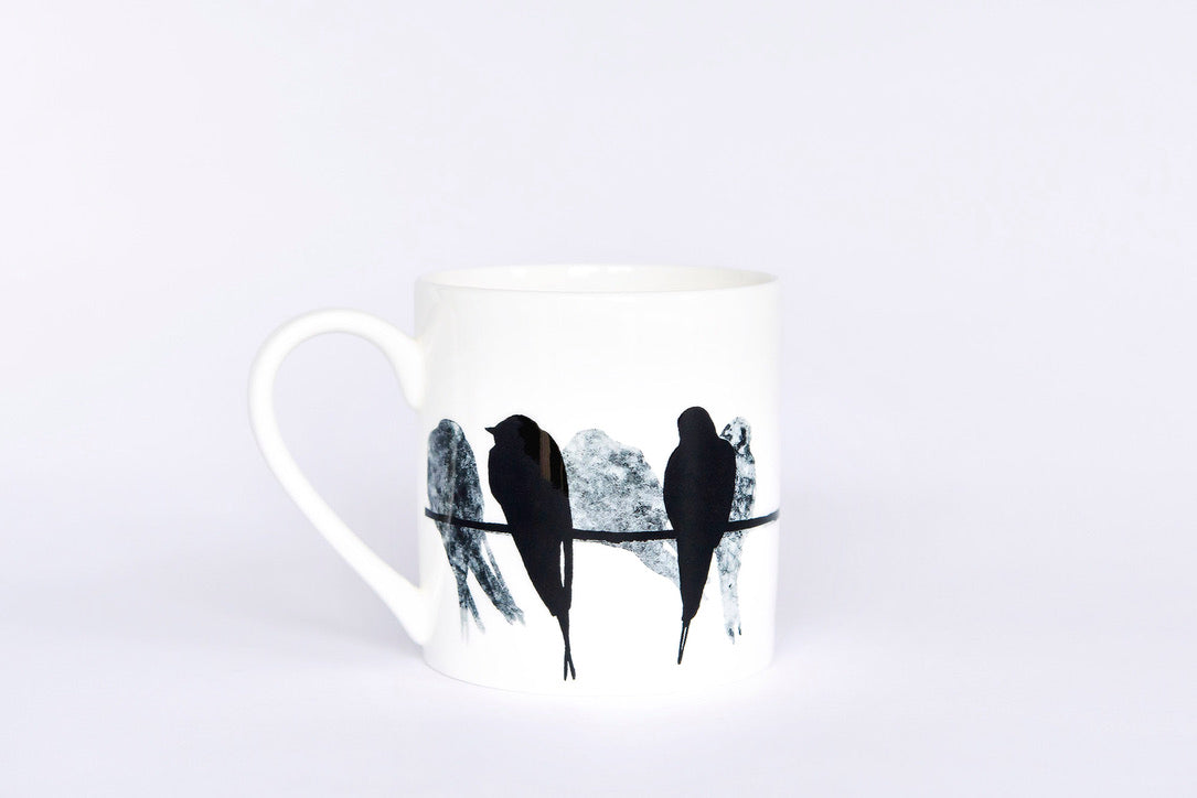PINT MUG: SWALLOW bone china