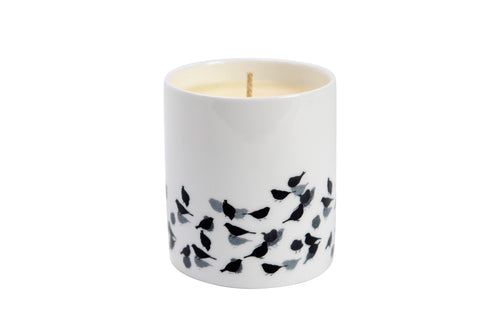 CANDLE: CHAFFINCH BIRD DESIGN hand poured soy wax scented (Clementine)