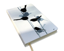 Load image into Gallery viewer, NOTEBOOK: Castelli moleskin with long-tailed tit design