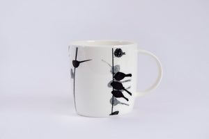 BARREL MUG: LONG-TAILED TIT bone china bird mug