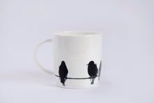 Load image into Gallery viewer, BARREL MUG: STARLING bone china bird mug