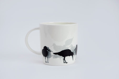 BARREL MUG: OYSTERCATCHER bone china bird mug