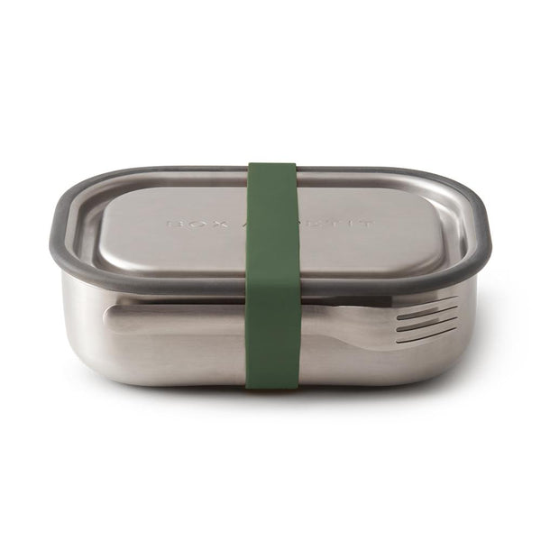 STAINLESS STEEL LUNCH BOX OLIVE - MATLÅDA I ROSTFRITT STÅL