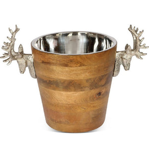 Huntsmen Stag Head Wooden Wine Cooler - Vinkylare