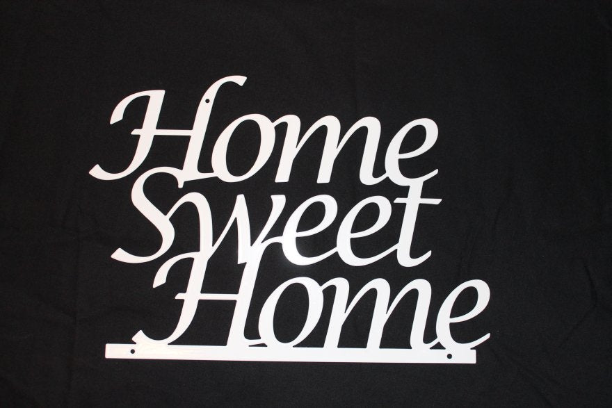 Skylt i metall - Home Sweet Home