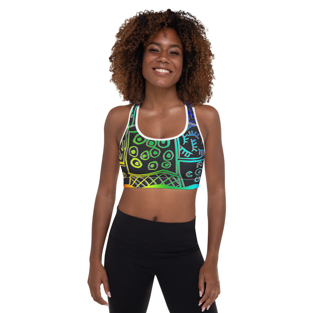 Padded Sports Bra Cloak design