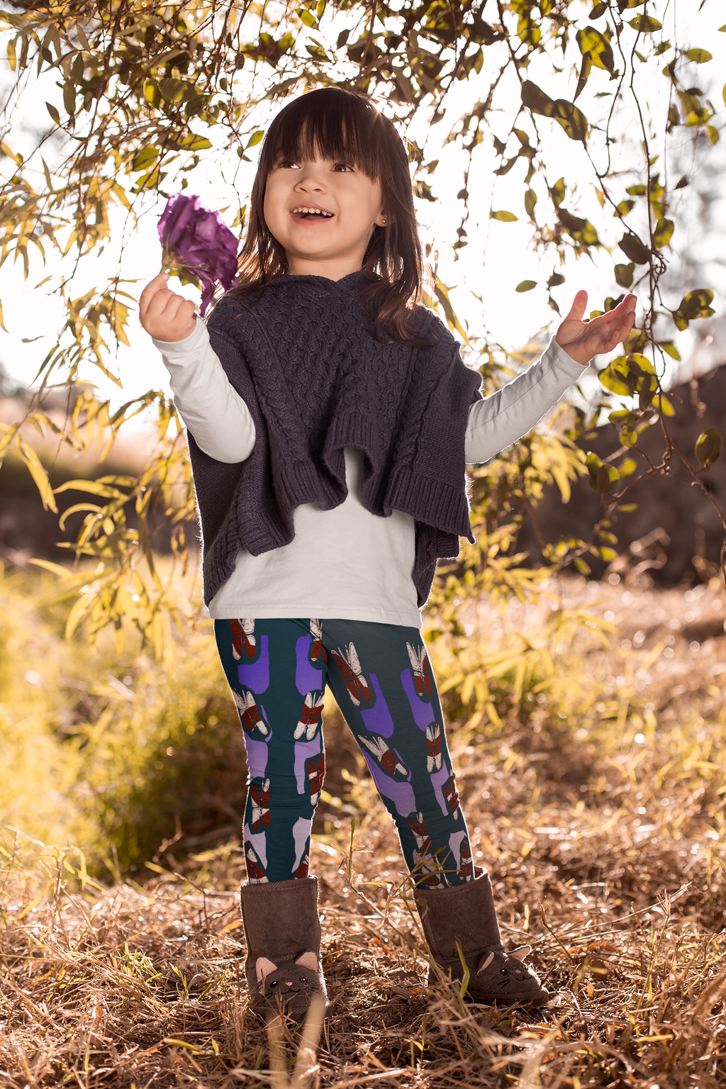 Multicolor Kids Leggings