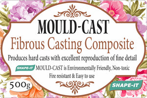Fibrous casting composite. Produces hard casts with excellent reproduction of fine detail. Easy to mix, quick drying and can be painted with all acrylic paints. Utensils to be cleaned with water, no toxic chemicals needed.