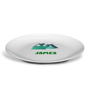 PERSONALISED MOUNTAINS PLATE