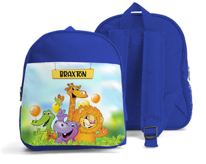 PERSONALISED SMALL KIDS BACKPACK - ZOO ANIMALS