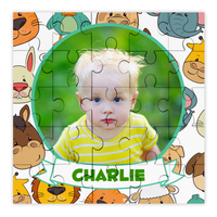 Personalised Photo Zoo Animals Puzzle