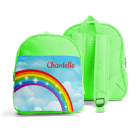 PERSONALISED SMALL KIDS BACKPACK - BRIGHT RAINBOW