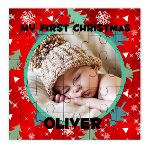 Personalised Photo First Christmas Puzzle