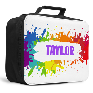 Personalised Lunch Box Cooler Bag - Paint Splash