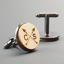 Load image into Gallery viewer, Personalised Cufflinks Anchor