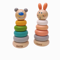 Personalised Wooden Ring Stacker