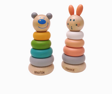 Load image into Gallery viewer, Personalised Wooden Ring Stacker