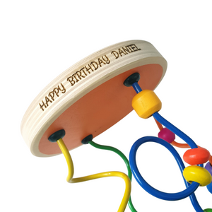 Large Personalised Wise Bead Toy