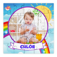 Personalised Photo Bright Rainbow Puzzle