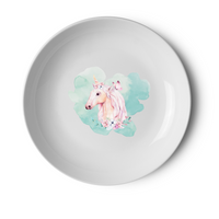 PERSONALISED UNICORN PLATE